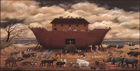 التناقض في عدد ازواج الطيور والبهائم التي أمر الله نوح أن ياخذها معه في الفلك
