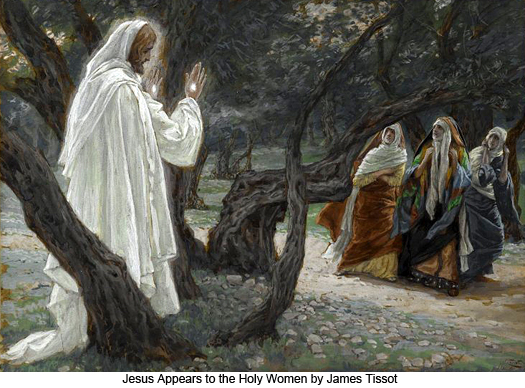 To whom did Christ appear first, the women or His disciples