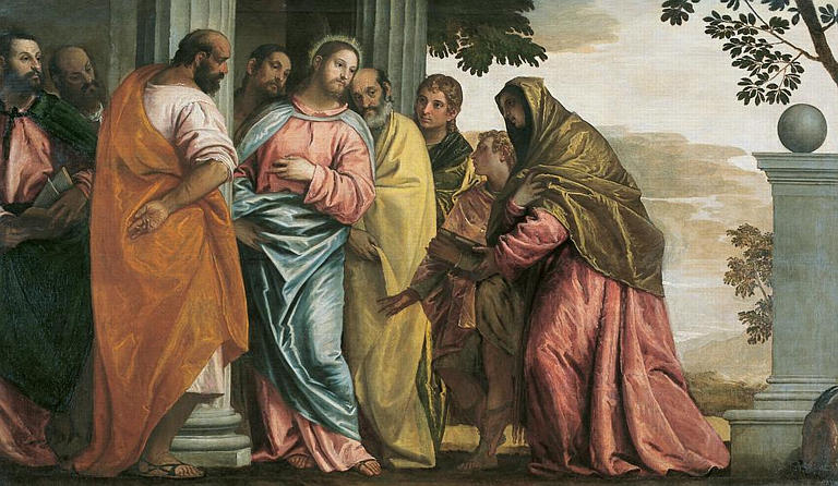 Who came to talk with Jesus, the mother of James and John or James and John