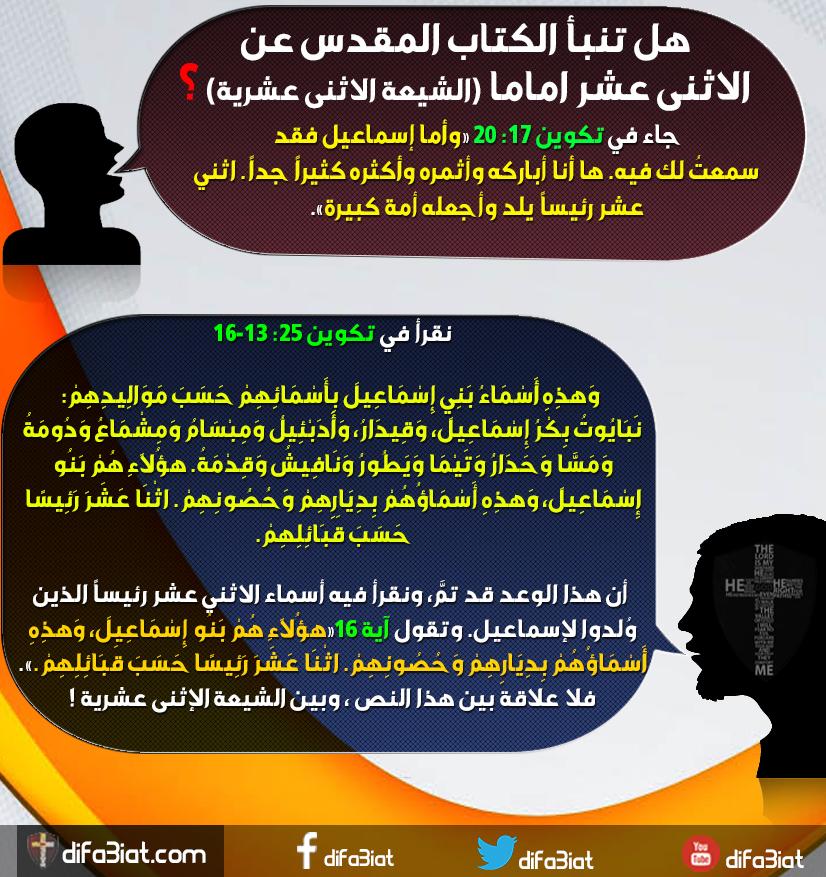 هل تنبأ الكتاب المقدس عن الإثنى عشر إماما (الشيعة الإثنى عشرية)؟