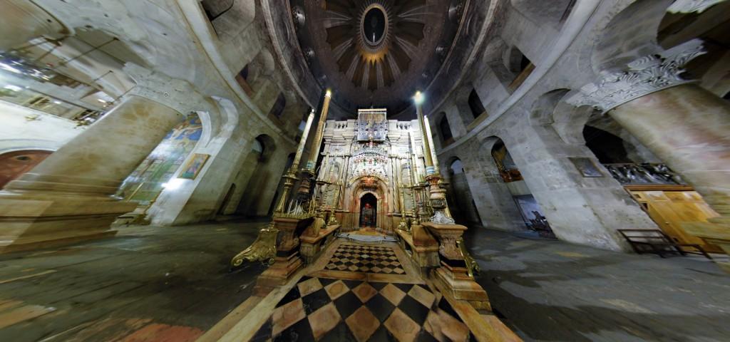 تجول فى كنيسة القيامة من الداخل وكانك فيها بالماوس 3D
