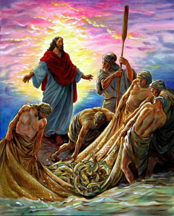 الشباك والاسماك مع المسيح قبل وبعد صليبه