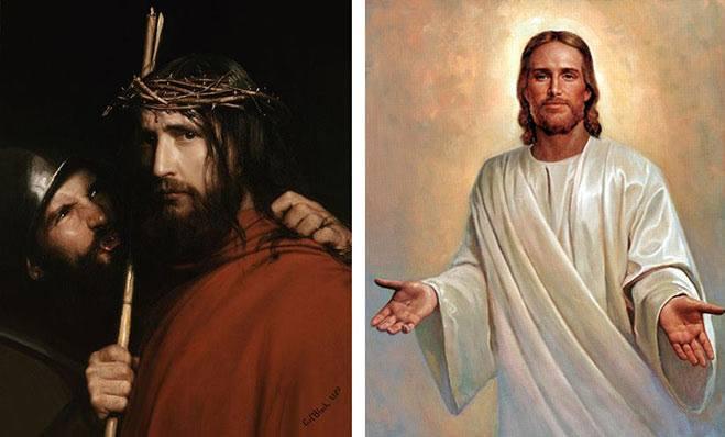 ألوان ثياب المسيح