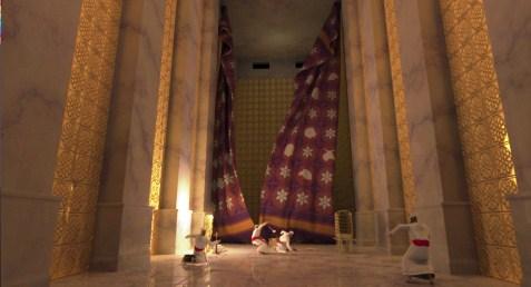 إنشقاق حجاب الهيكل بنظرة يهودية