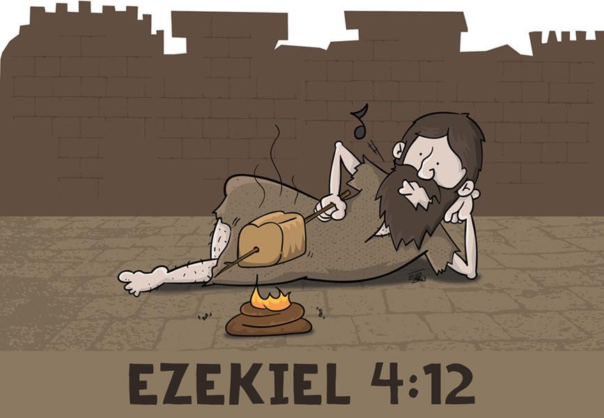 هل هو إله يأمر الإنسان بأكل فضلات الإنسان؟ شبهة والرد عليها