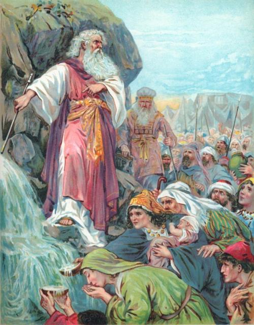 موسى والصخرة والمسيح