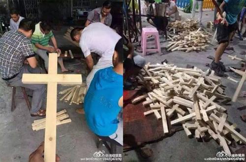 """المسيحيون يردون على عمليات إنزال الصلبان في """"تشجيانغ"""" بحملة """"اصنع و احمل الصليب"""""""