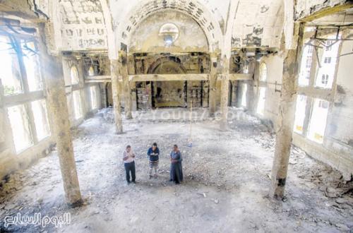 شاهد بعض الكنائس التي حرقها الإخوان المسلمون كنيسة الأنبا موسى احترقت بالكامل