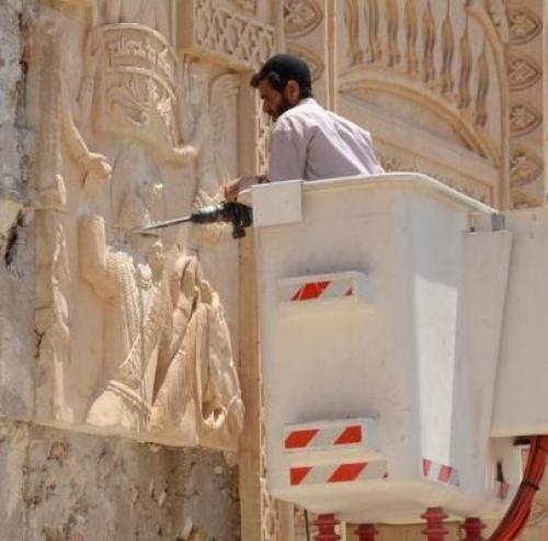 """داعش يدمر دير """"مار بهنام """" السريانى الذى يعود للقرن الرابع الميلادى"""