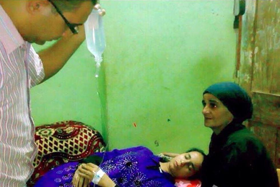 مريم طالبة الثانوية العامة تفقد الوعي وتسوء حالتها الصحية جداً ويعلق لها محاليل
