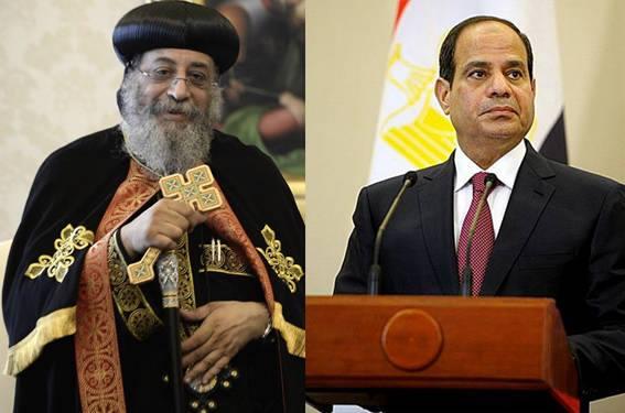 نص برقية تهنئة قداسة البابا تواضروس للرئيس عبد الفتاح السيسي