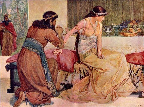 #العيّنة_بيّنة (7) قول أحشويرش لهامان: هل ايضا يكبس الملكة معي في البيت؟ ما الذي كان يفعله هامان بجانب أستير؟ قراءة تاريخية
