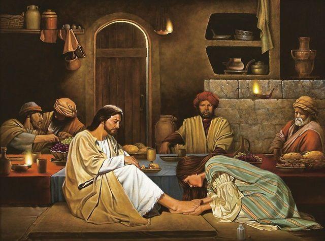 امرأة تغسل رجلي السيد المسيح .. كيف هذا ؟