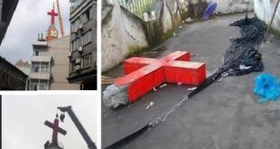 تدمير أكثر من 400 صليب في تشجيانغ بالصين بسبب ارتفاع نسبة المتحولين للمسيحية