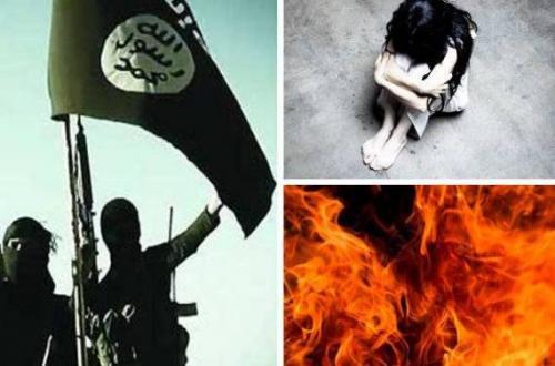 أسيرة داعش تحرق وجهها حتى توقف رغبة مقاتلي التنظيم في اغتصابها