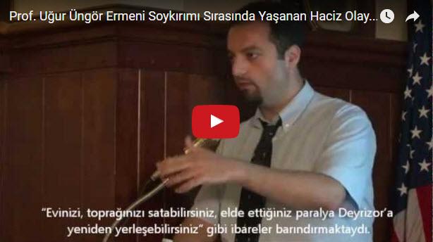 برفيسور تركي يتحدث عن الابادة الارمنية و ويعرض الاراشيف العثمانية التي احتوت على اوامر ابادة الارمن وترحيلهم ومصادرة ممتلكاتهم.