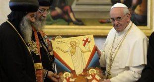 في يوم الصداقة بينهما: إتصال من البابا فرنسيس إلى البابا تواضروس الثاني