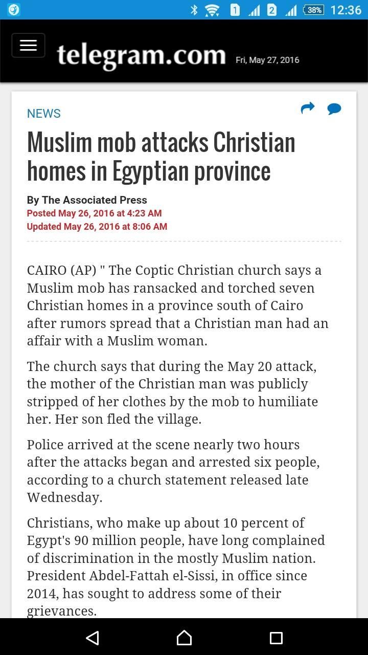 الصحافة العالمية تتناول قضية أحداث المنيا