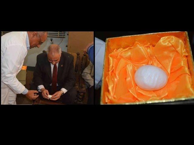 بالفيديو متصل بكل استغراب محافظ المنيا راح يشوف البيضة اللي عليها لفظ الجلالة ومراحش يشوف الست اللي اتعرت