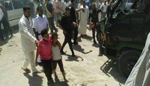زغاريد النساء اثناء تجمهر متشددين والاعتداء على اقباط العامرية