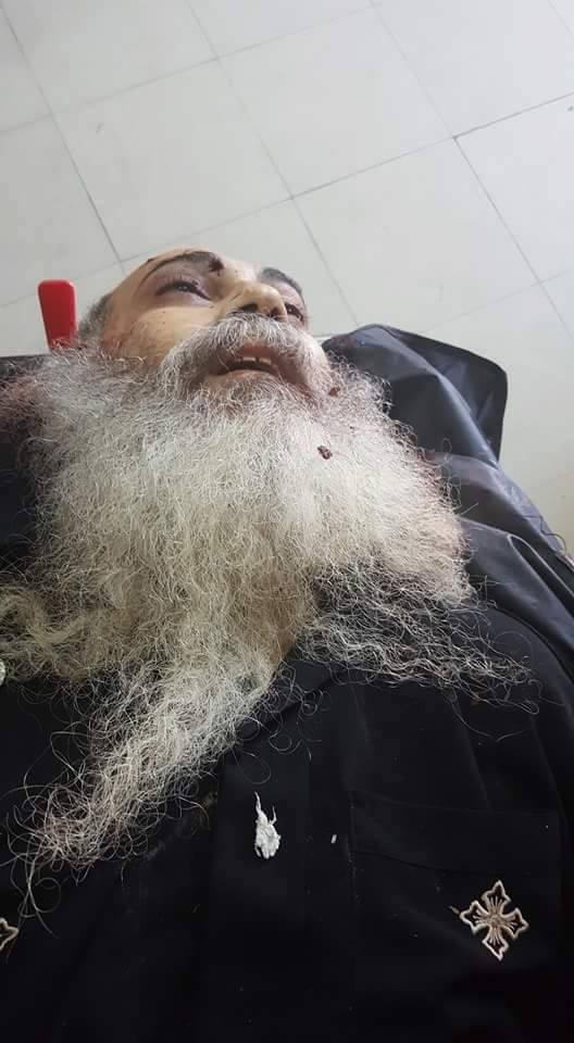 صور للقس رافائيل موسى بعد إستشهاده