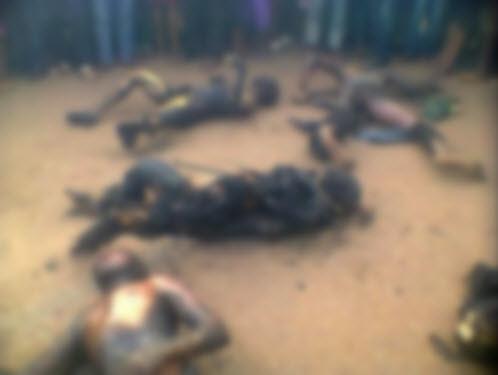 حرق 8 أشخاص وهم أحياء داخل منزلهم لإتهام مسيحي بالإساءة للإسلام