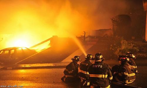 حريق هائل في دير القديسة دميانة