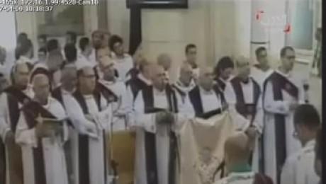 عاجل بالفيديو لحظة وقوع الانفجار فى كنيسة مار جرجس بطنطا
