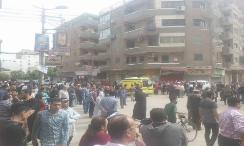 ضبط شخصين يشتبه تورطهما في حادث تفجير كنيسة مارجرجس