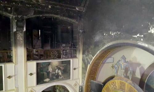 السيطرة على حريق محدود داخل كنيسة أبوسيفين بالإسكندرية