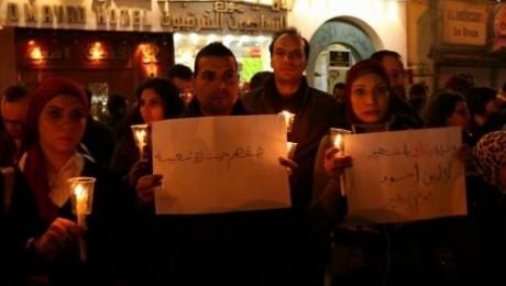 اليوم وقفة بالشموع حدادا على شهداء كنيستي طنطا والإسكندرية