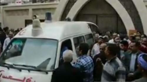 تشييع جثامين 26 من شهداء تفجير كنيسة مار جرجس