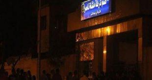 مواطنو منشاة ناصر يحاصرون قسم شرطة منشية بعد مقتل قبطي شنقا