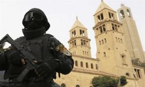 الأمن يغلق جميع كنائس حلوان بعد هجوم إرهابي حاول إقتحام كنيسة بالشارع الغربى