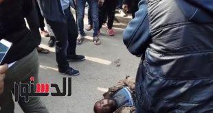 بالفيديو.. لحظة ضبط إرهابي يرتدي حزامًا ناسفًا بمحيط كنيسة حلوان