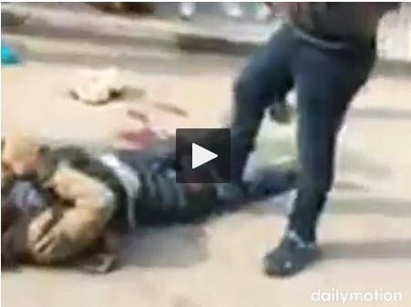 ننشر فيديو تصفية إرهابى قبل استهدافه كنيسة مارمينا بحلوان