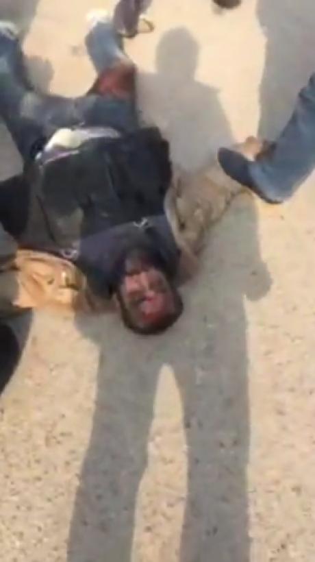 فيديو جديد للارهابى الذى استهدف كنيسة مارمينا بحلوان منذ قليل