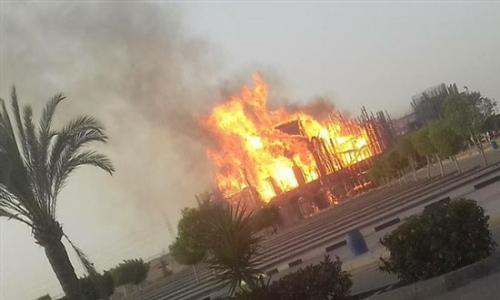 عاجل: حريق هائل في دير مارمينا بمريوط
