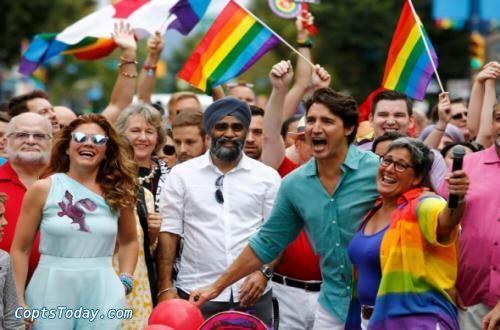 إعتقال رجل يوزع كتيبات مجانية في موكب رئيس الوزراء الكندى تطالب المثليين بتقديم توبة للمسيح