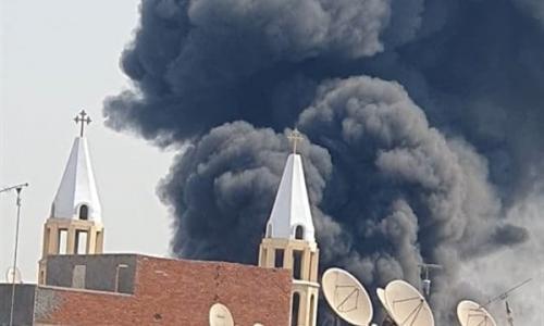 عاجل: حريق كنيسة مار جرجس بالمنصورة بعد حريق كنيسته في حلوان (صور)!