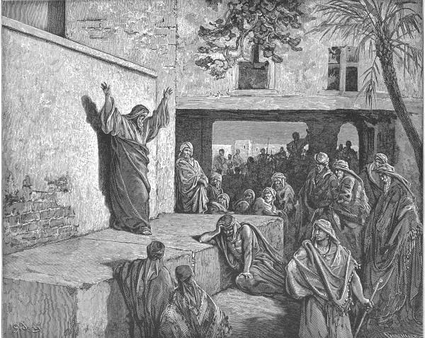 ميخا يحضُّ الاسرائيليّين على التوبة (1865) - نقش من عمل غوستاف دوريه